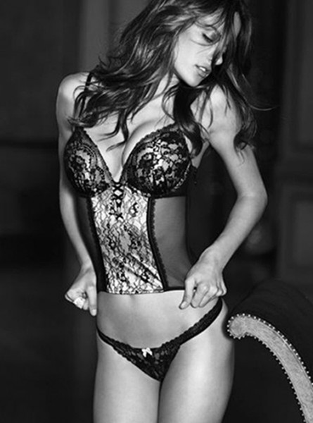 gorgeous woman in black and white photo